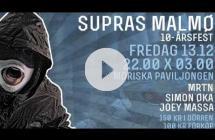 Supras Malmö 2003x2013 - 10-årsfest - 13/12 - Moriska Paviljongen